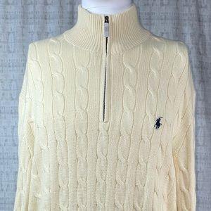 NWT Polo Ralph Lauren Quarter Zip Knit Sweater